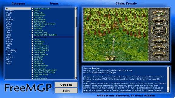 FreeMGP interface