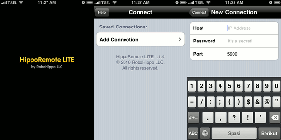 iPhone Remote - Connecting
