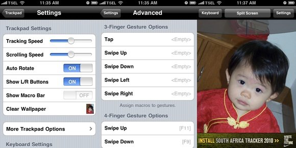 iPhone Remote - Settings