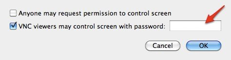 iPhone Remote - System Preferences - Password