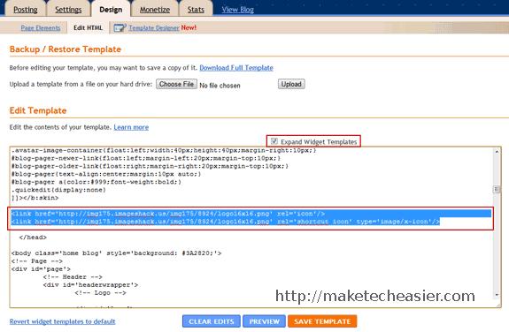 blogger - edit html