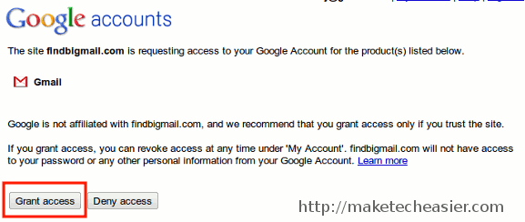 findbigmail-grant-permission