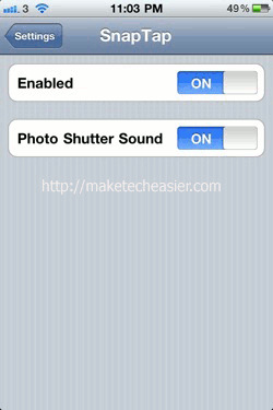 iPhone-SnapTap-Setting