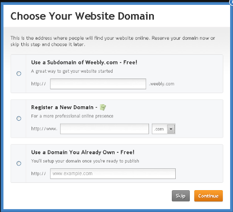 weebly-hosting-options