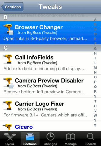 how to change my default browser on iphone