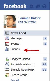 Edit Facebook Friends List