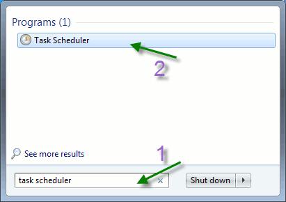 Start task scheduler