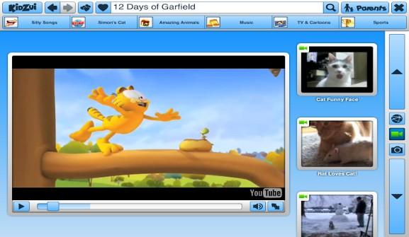 KidZui Garfield YouTube video