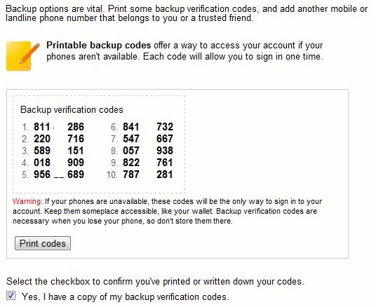 google-printedcodes