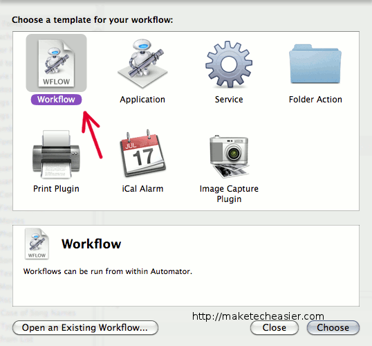 automator-choose-template