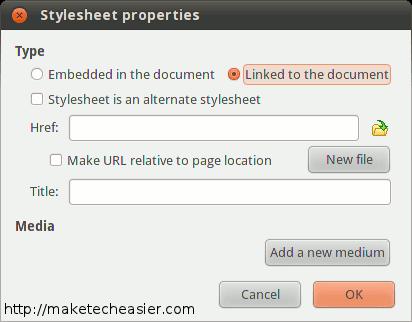 Add a style sheet