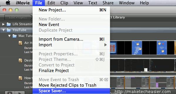 iMovie SpaceSaver