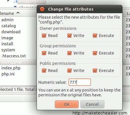 shoppingcart-change-file-permission