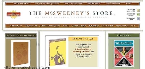 McSweeneys-Website