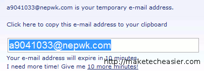 10 minute email address- disposable email address