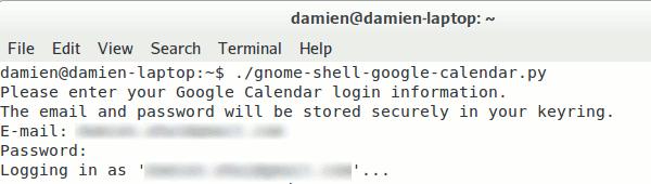 gnome-shell-google-cal-login