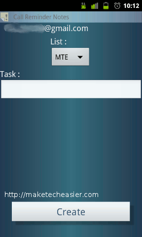 call reminder notes - add to google tasks