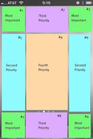 organize iphone home screen priority