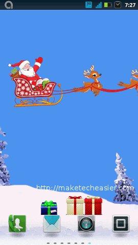 xmas wallpapers-santas sleigh