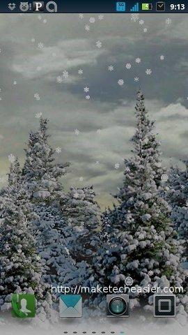xmas wallpapers-snowfall free