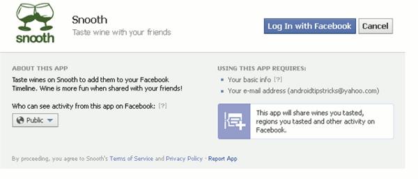 facebook timeline apps - grant access