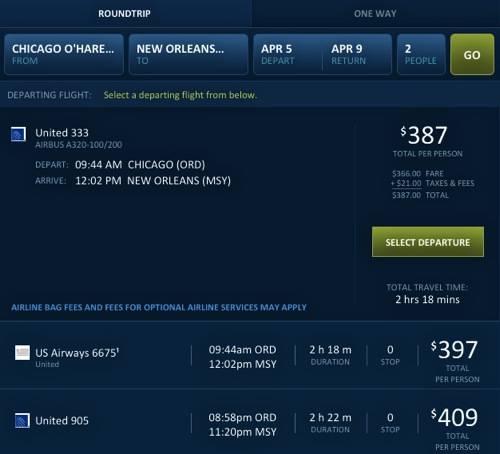 Travelocity-FlightInfo