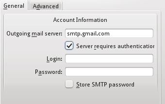 Kmail SMTP settings