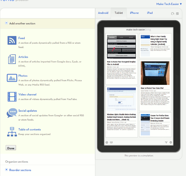 google-currents-sections