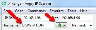 angry-ip-scanner enter hostname