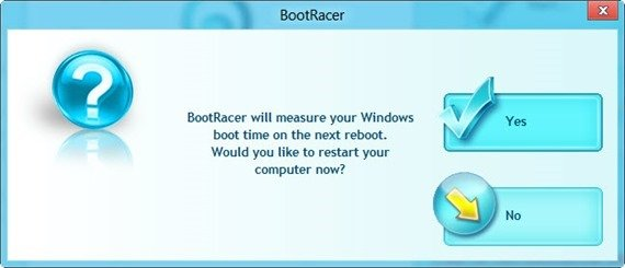 BootRacer message