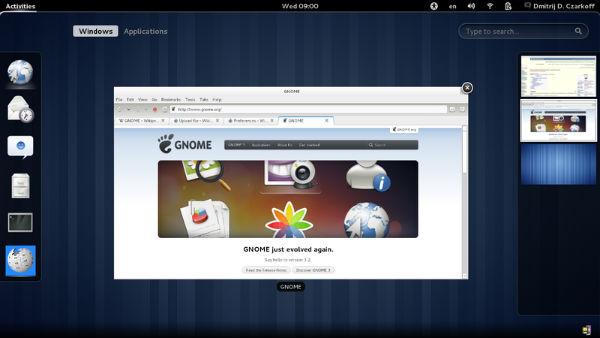linux desktop gnome