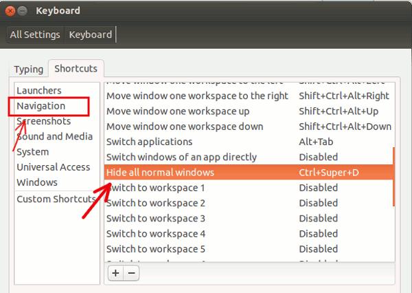 ubuntu-show-desktop-keyboard-shortcut