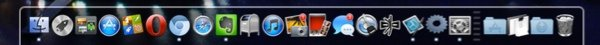 2D with transparency effect on the Mac Dock.