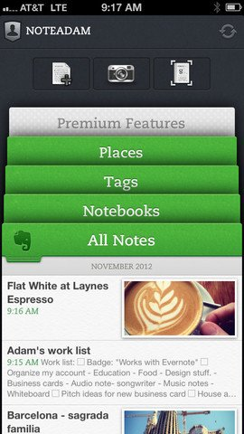 using tech in gift giving: evernote