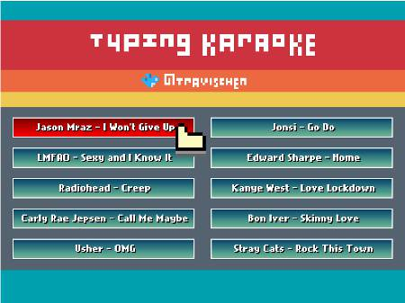 karaoke typing: Jason Mraz's I won't give up