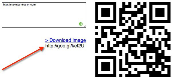 Get a permalink for your QR Code.