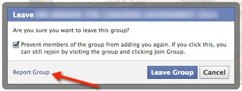 Report a Facebook group for harassment, explicit content, spam, scams, etc.