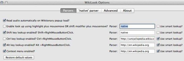 Wikilook Options - Firefox Add-on