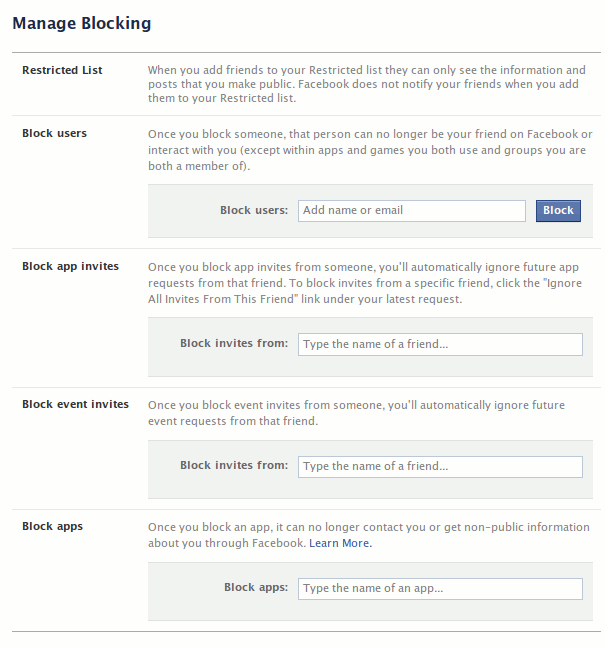 Facebook-Blocking