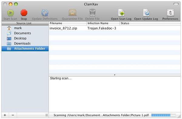 ClamXav Antivirus for Mac