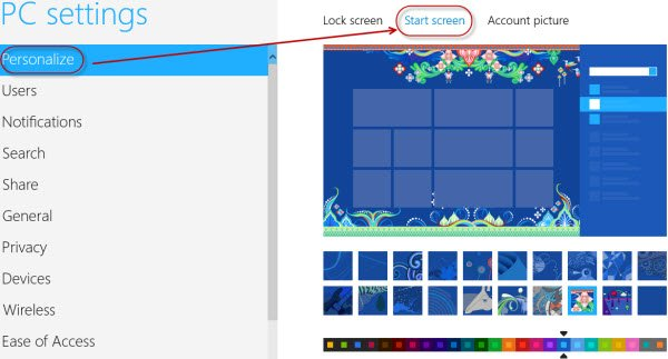 start-screen-Customization