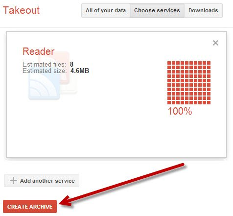 Export your Google Reader feed items with Google Takeout.