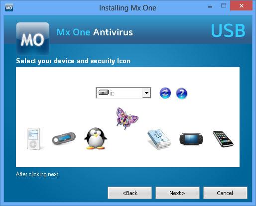 usbdrive-mx-one-antivirus-drive-selection
