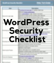 wp-security-checklist