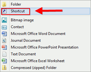 create-new-shortcut