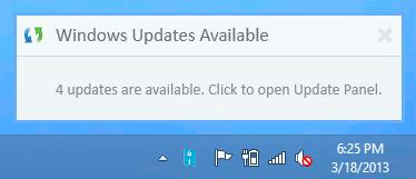 Windows Update Notifier notifications