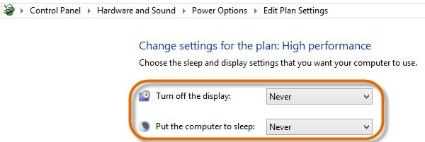 Check your computer's power management settings.