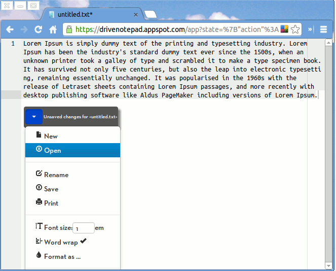 chrometexteditor-drivenotepad