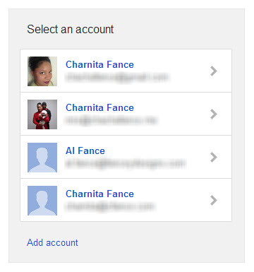 Select the Google account that you want to use with Googomi.