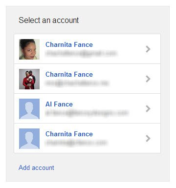 Select the Google email address associated with the Google+ profile that you want an RSS feed for.